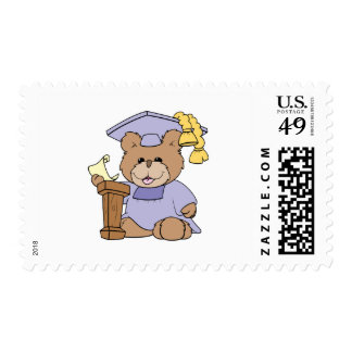 top of the class graduation bear design stamps