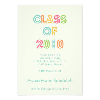 top of the class graduation invitation