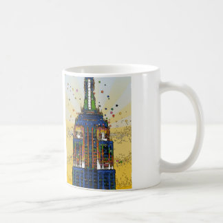 Top of the Empire State Psychedelic NYC Style Coffee Mug