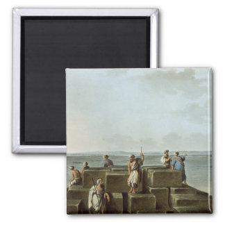 Top of the First Pyramid of Gizah, plate 4 from 'V 2 Inch Square Magnet