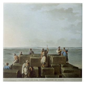 Top of the First Pyramid of Gizah, plate 4 from 'V Ceramic Tile