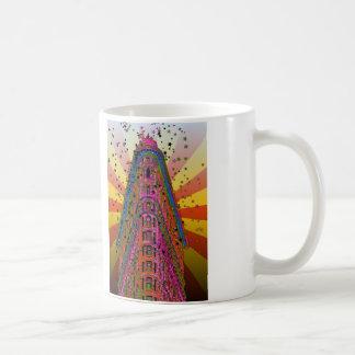 Top of the Flatiron Building Reddish, Yellow Rays Coffee Mug