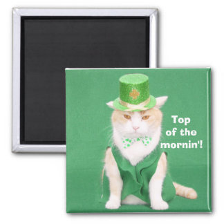 Top of the mornin'! 2 inch square magnet