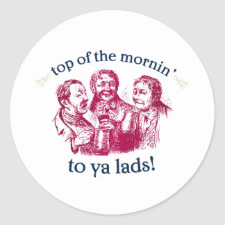 top-of-the-mornin classic round sticker