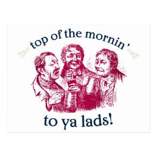 top-of-the-mornin postcard