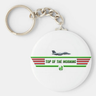Top of the Morning Logo keychain