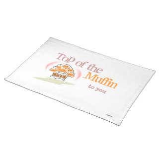 Top of the Muffin to You (pink/white) Placemat Cloth Placemat
