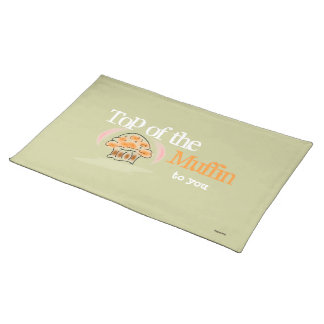 Top of the Muffin to You (sage/white) Placemat Cloth Placemat