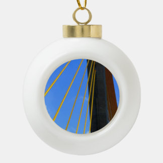 Top of the Skyway Ceramic Ball Christmas Ornament