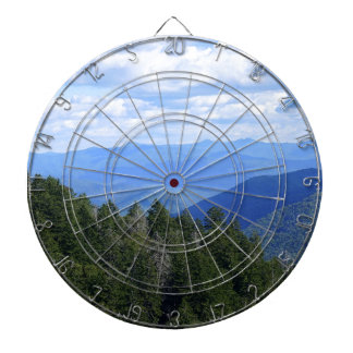 Top of the Smokies Dartboard With Darts