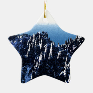 Top of The World Ceramic Ornament