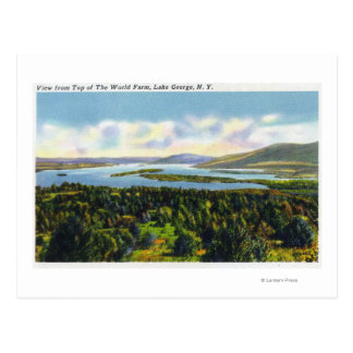 Top of the World Farm View of the Lake Postcard