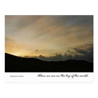 Top of the world postcard