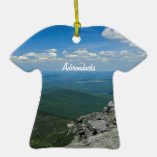 Top of Whiteface Mountain, Adirondacks, NY Double-Sided T-Shirt Ceramic Christmas Ornament