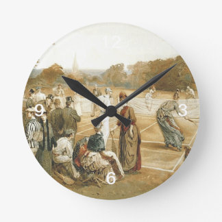 TOP Old School Tennis Round Clock