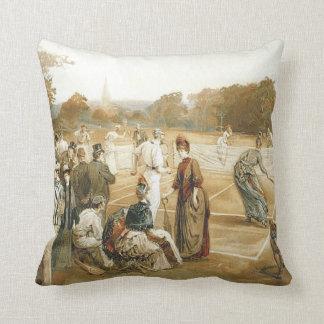 TOP Old School Tennis Throw Pillow
