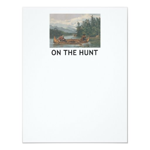 TOP On the Hunt 4.25x5.5 Paper Invitation Card