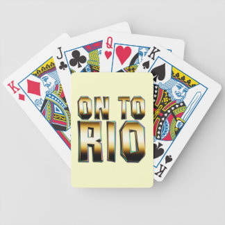 TOP On to Rio Bicycle Playing Cards