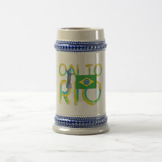 TOP On to Rio 18 Oz Beer Stein