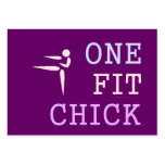 TOP One Fit Chick Large Business Cards (Pack Of 100)