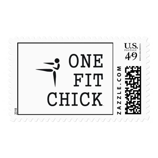 TOP One Fit Chick Postage Stamps