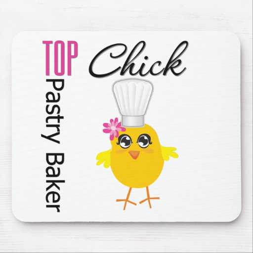 Top Pastry Chick Mouse Pad