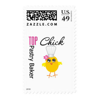 Top Pastry Chick Postage Stamps
