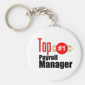 Top Payroll Manager Keychain