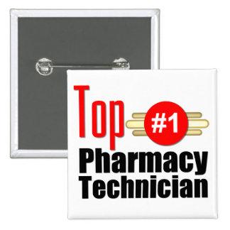 Top Pharmacy Technician 2 Inch Square Button
