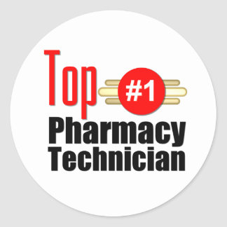 Top Pharmacy Technician Classic Round Sticker