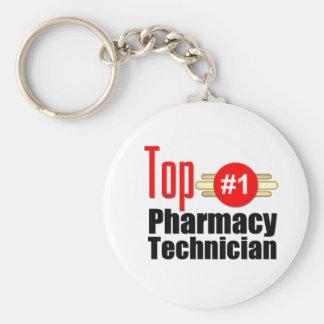 Top Pharmacy Technician Basic Round Button Keychain