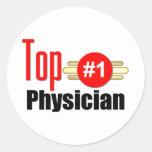 Top Physician Round Sticker