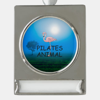 TOP Pilates Animal Silver Plated Banner Ornament