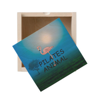 TOP Pilates Animal Wooden Keepsake Box