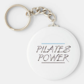 TOP Pilates Power Basic Round Button Keychain