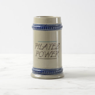 TOP Pilates Power 18 Oz Beer Stein