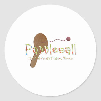 TOP Ping Pong Humor Classic Round Sticker