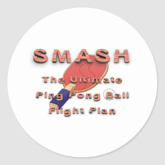 TOP Ping Pong Slogan Classic Round Sticker