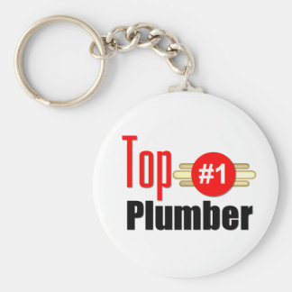 Top Plumber Basic Round Button Keychain