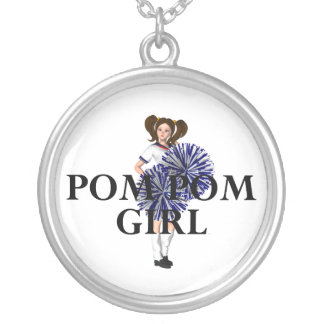 TOP Pom Pom Girl Silver Plated Necklace