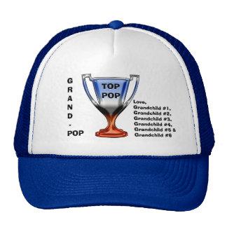 Top Pop Trophy Head Topper (For Grand-Pop) Trucker Hat