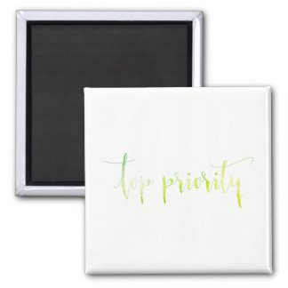 Top Priority White Green Order Planner Home Office Magnet