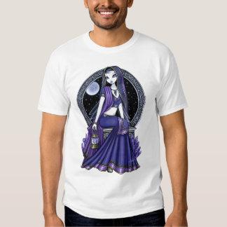 Top púrpura de la hada de la sari de la luna de