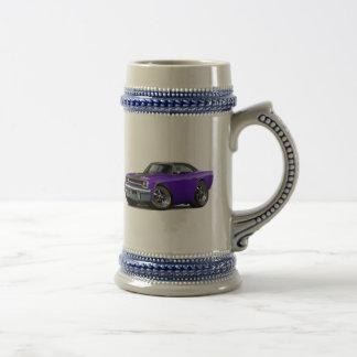 Top Púrpura-Negro 1970 del Roadrunner Jarra De Cerveza