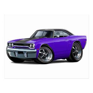 Top Púrpura-Negro 1970 del Roadrunner Tarjetas Postales