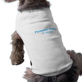 Top que camina del perro personal del instructor playera sin mangas para perro