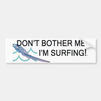 TOP que estoy practicando surf Etiqueta De Parachoque