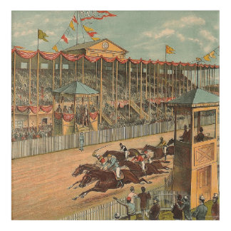 TOP Race Day at the Track Acrylic Wall Art