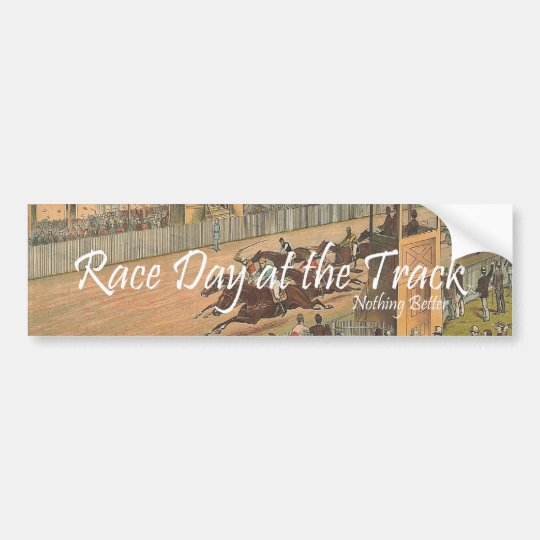 TOP Race Day at the Track Bumper Sticker