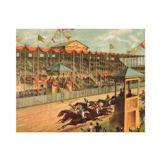 TOP Race Day at the Track Canvas Print
